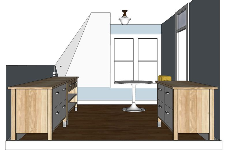 Craft Room / Kitchen w/ IKEA Värde Cabinets