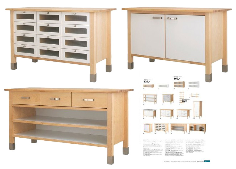 Ikea varde kitchen island with drawers roselawnlutheran for Free standing kitchen ideas