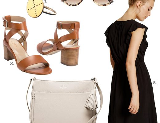 Cute Cross Body Bag, Dress, Sandals