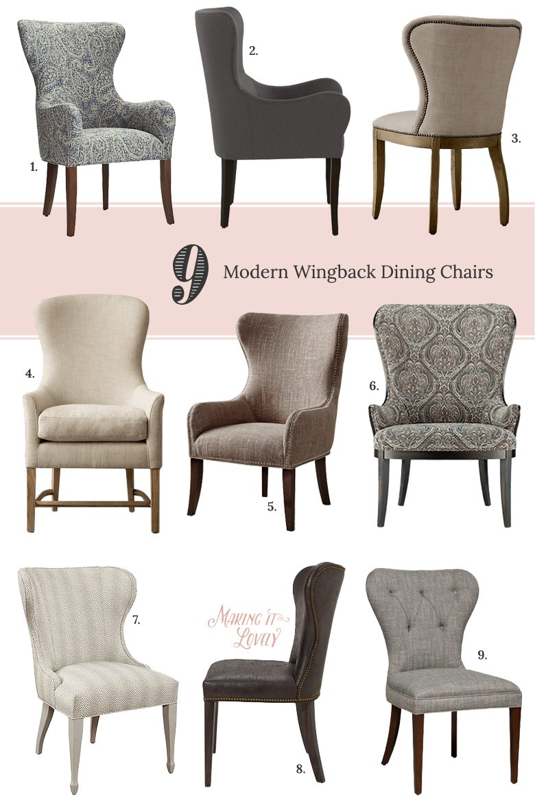 modern wingback dining chairs making it lovely