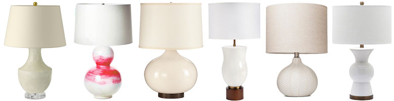 White Ceramic Lamps