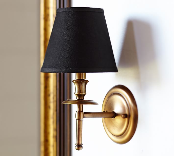 Pottery Barn Brass Collins Sconce