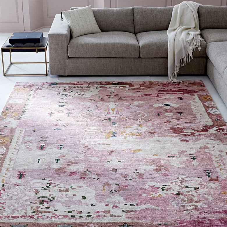 Persian-Style Pink Rug, West Elm