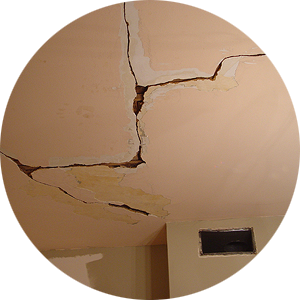 Cracked Plaster Ceiling | Old Town Home