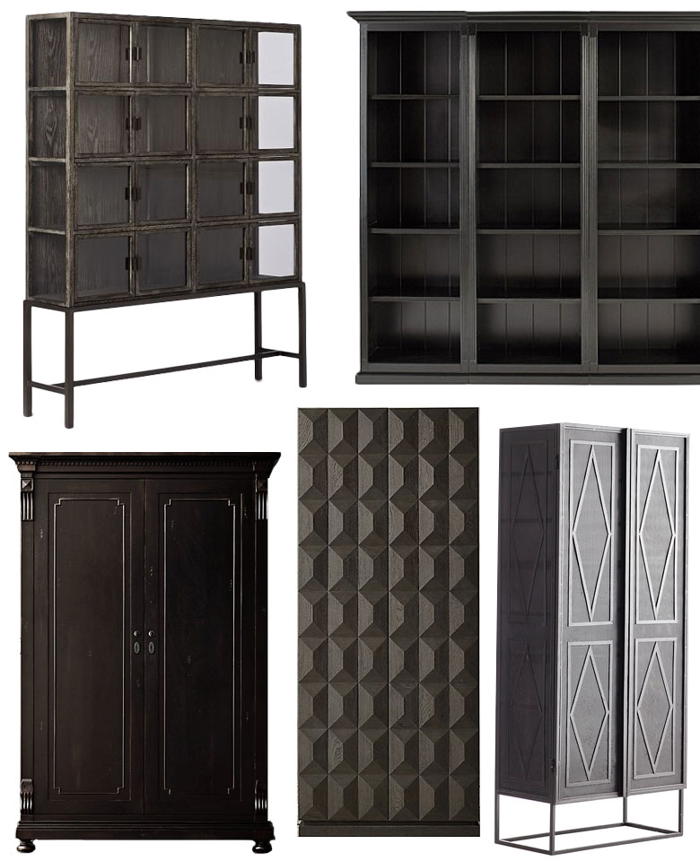 Dark Cabinets and Shelving