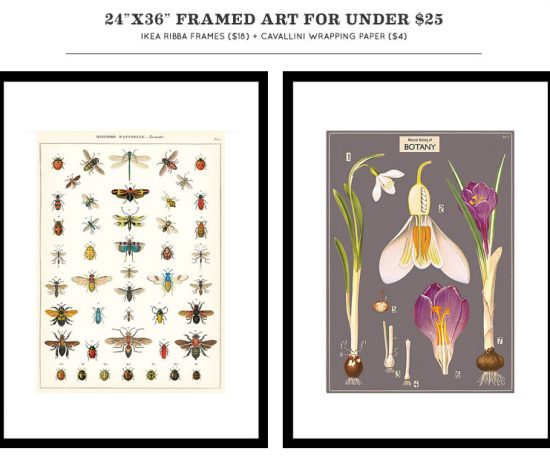 Awesome Framed Art Under $25