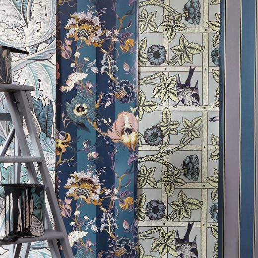 House of Hackney x William Morris - wallpaper collection, modernized