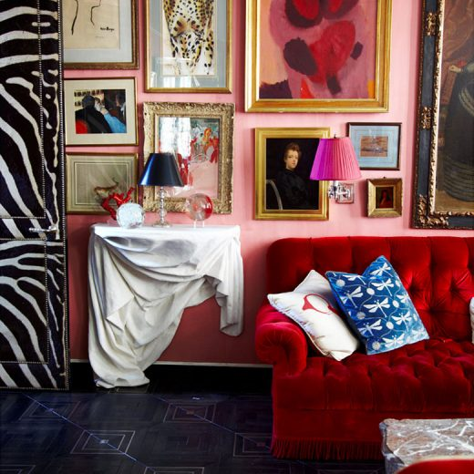 Miles Redd - Pink Gallery Wall