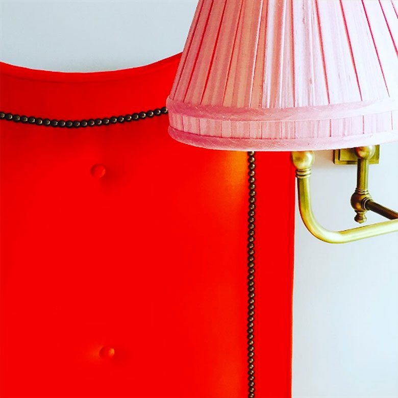 Pink Pleated Lamp Shade - Summer Thornton Design