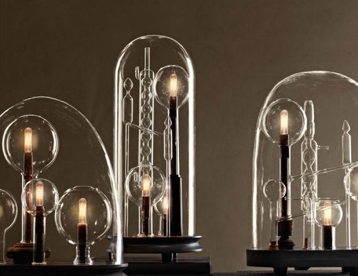 Restoration Hardware Chemistry Cloche Lamps