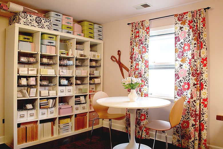 Pink Craft Room, Making it Lovely (Pink Loves Brown)