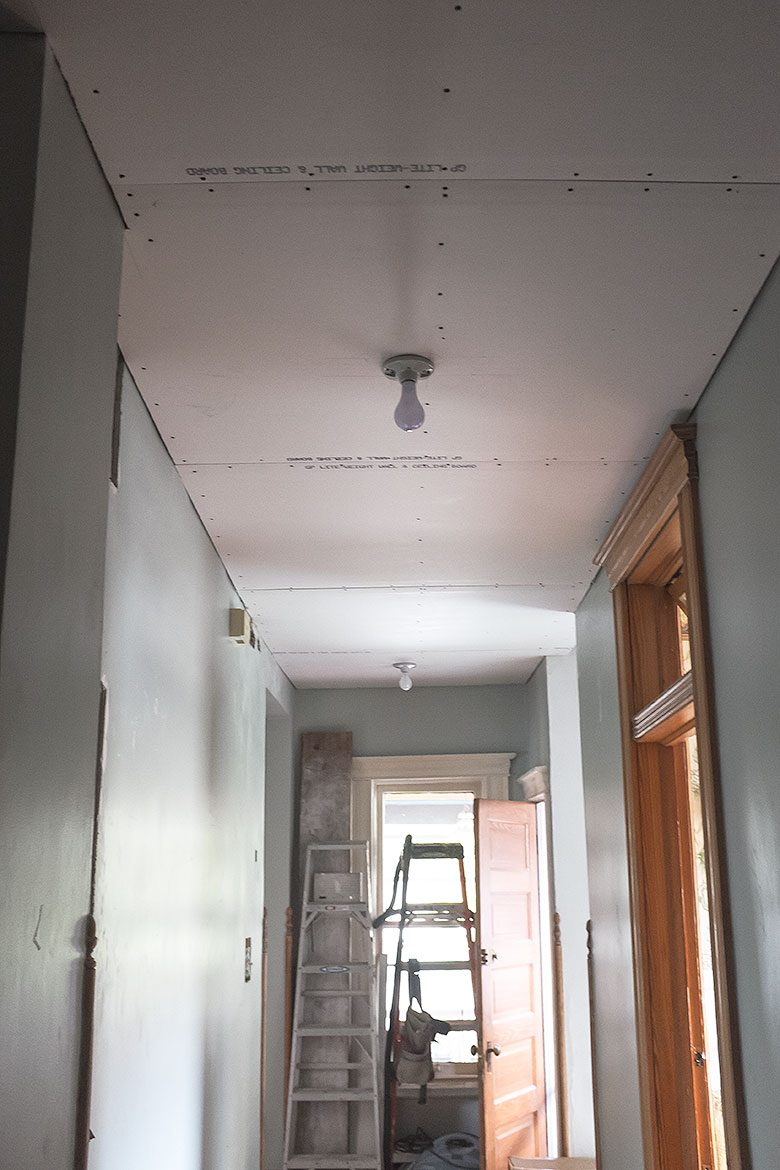 Drywall Ceiling Going Up