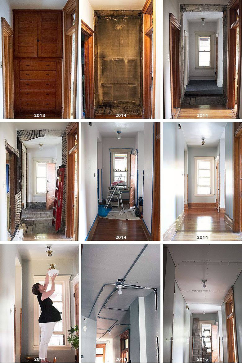 Hallway Changes Over Three Years