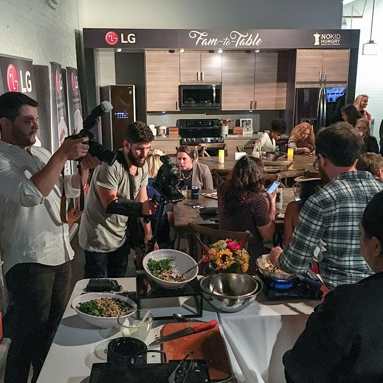 LG and Jason Vincent at Taste of the Nation Chicago for No Kid Hungry
