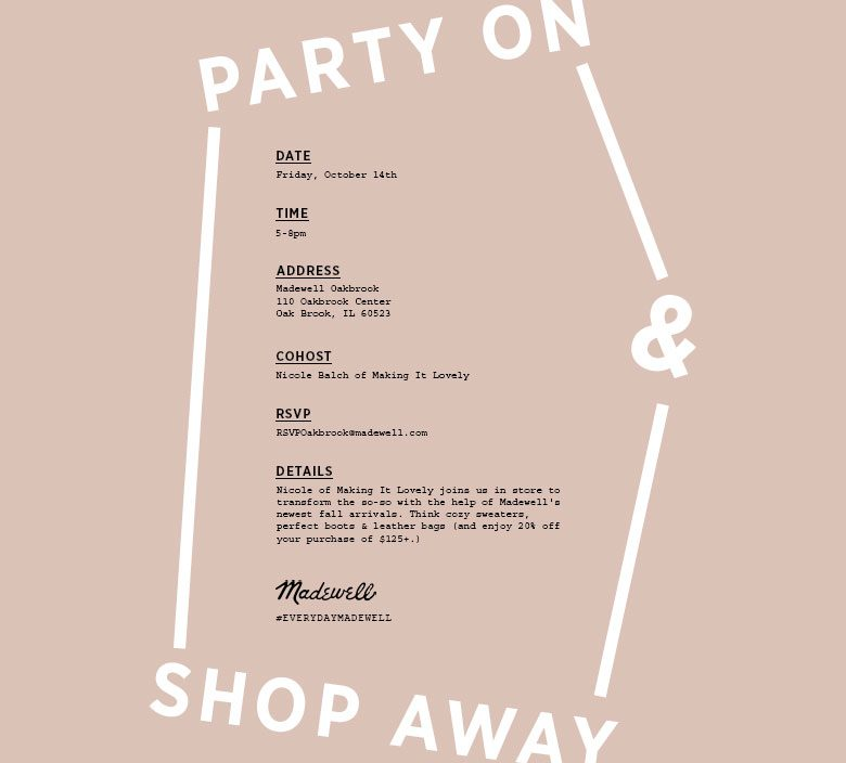 Madewell Shopping Invitation