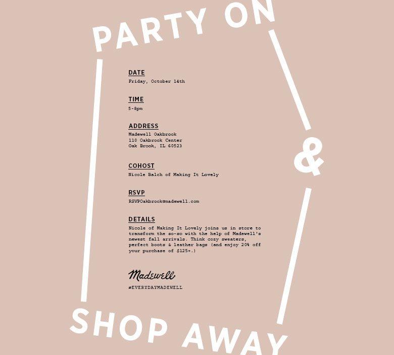 Madewell Shopping Invitation