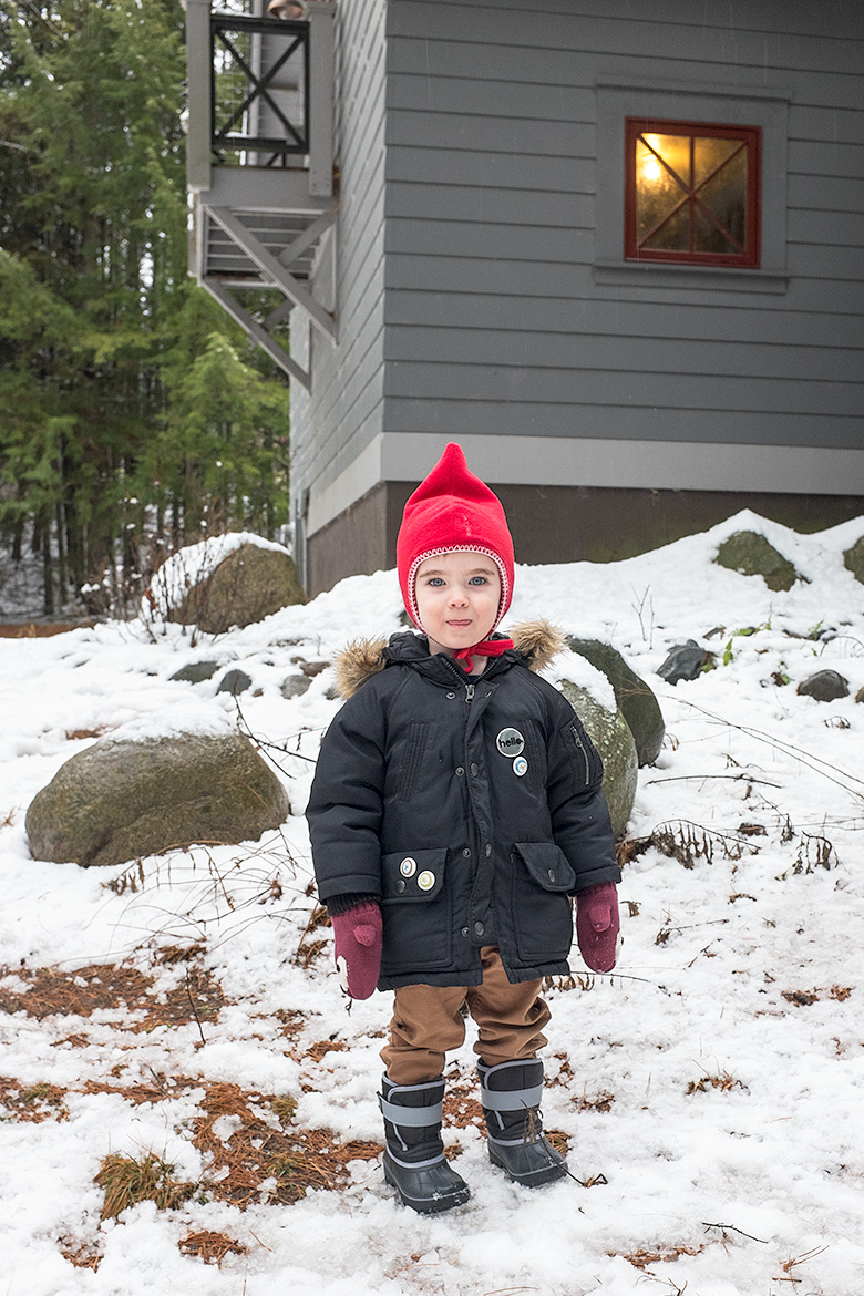 Calvin in his little gnome hat