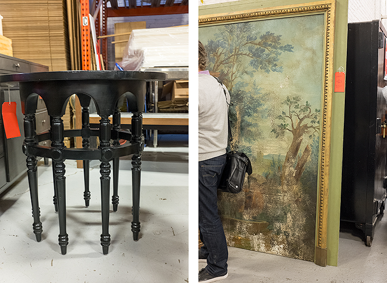 Jayson Home Warehouse Sale   Table, Painting Panel