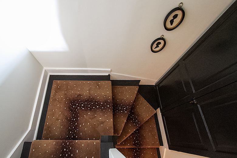 Antelope Print Stair Runner Rug | Making it Lovely, One Room Challenge