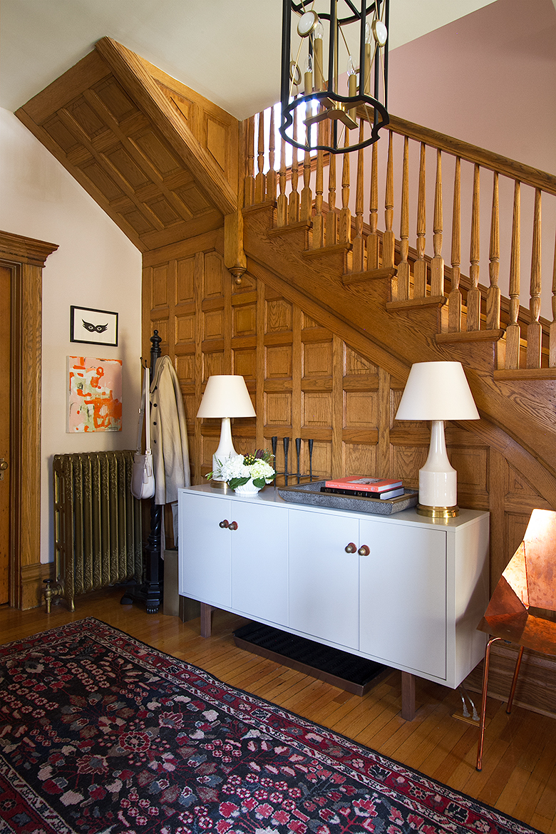 Victorian Stairway with Oak Wood Paneling   Making it Lovely, One Room Challenge