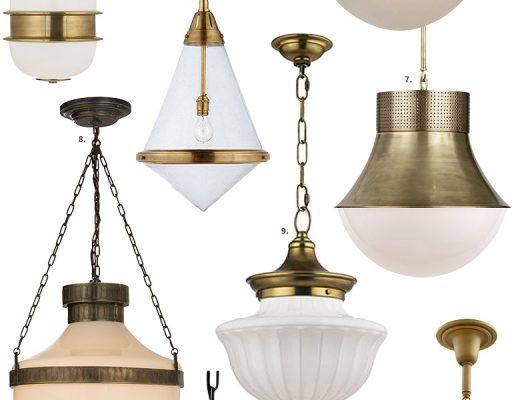 Shapely Glass Pendant Light Fixtures | Making it Lovely