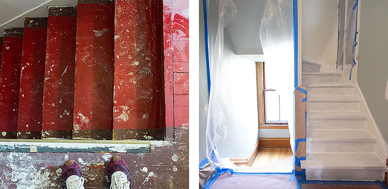 Stairs' Progress   Making it Lovely, One Room Challenge