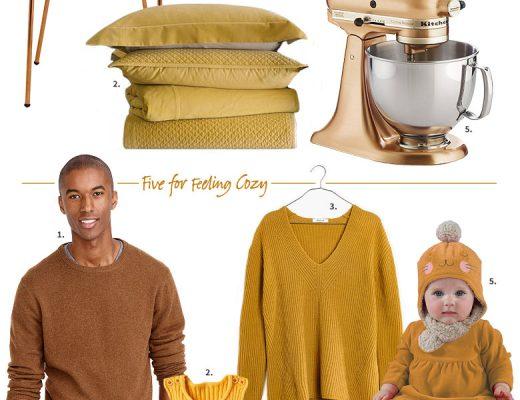 A Gift Guide in Mustard & Ochre, Gold, & Copper