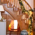 Christmas Garland on Victorian Wooden Staircase | Making it Lovely