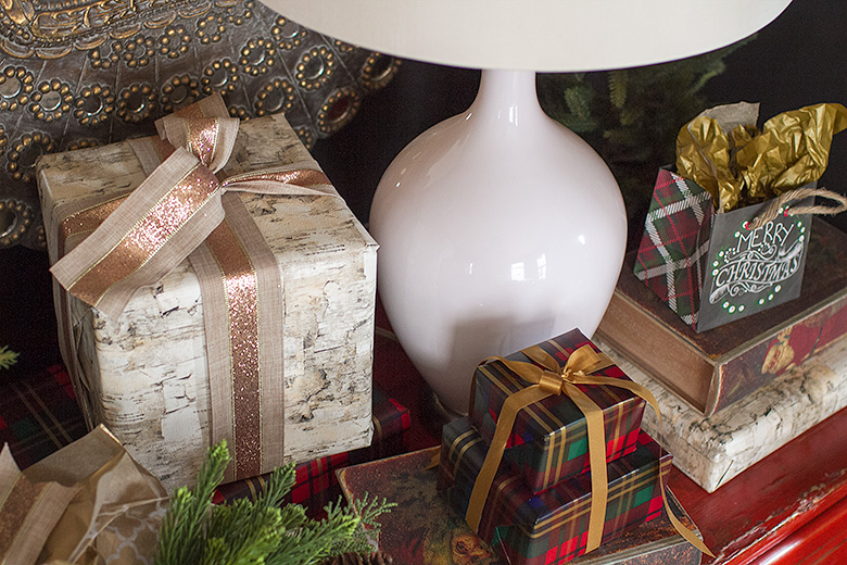 Christmas Wrapping Paper and Ribbon from Pier 1