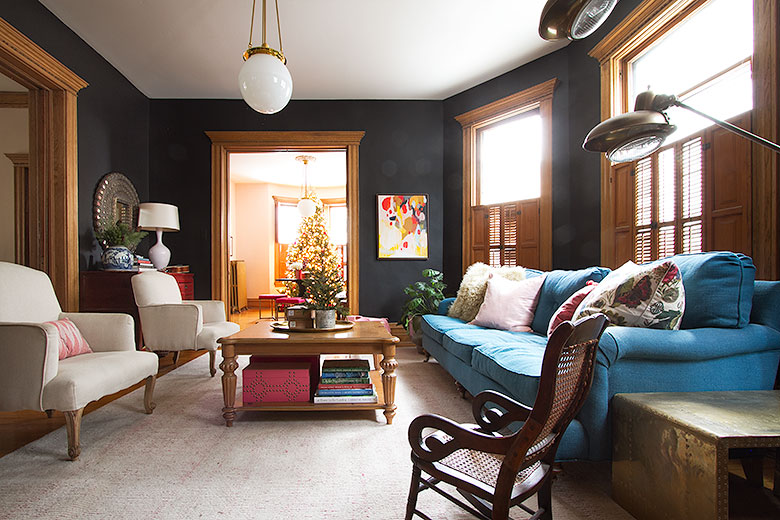 Modern Victorian Double Parlors at Christmas   Making it Lovely