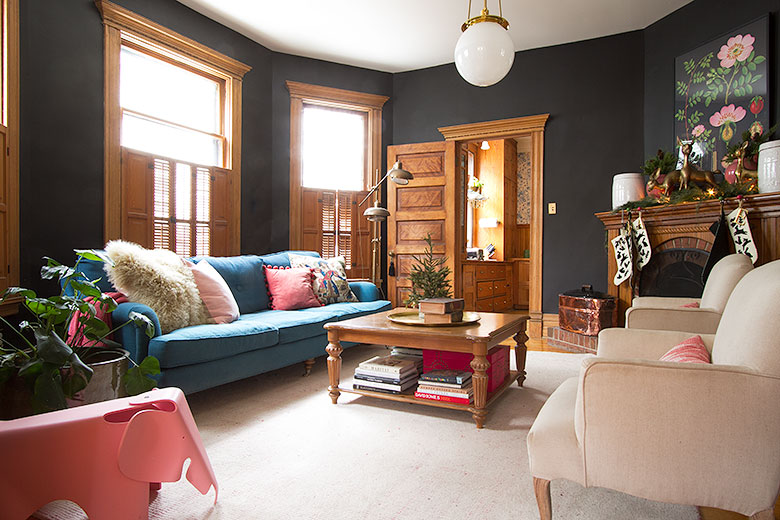 Modern Victorian, Black Living Room | Making it Lovely