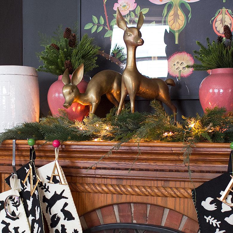 Brass Deer, Handmade Christmas Stockings   Making it Lovely