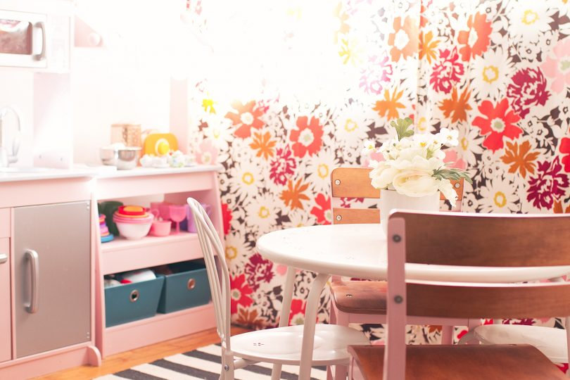 Playroom with Flower Curtains | Making it Lovely
