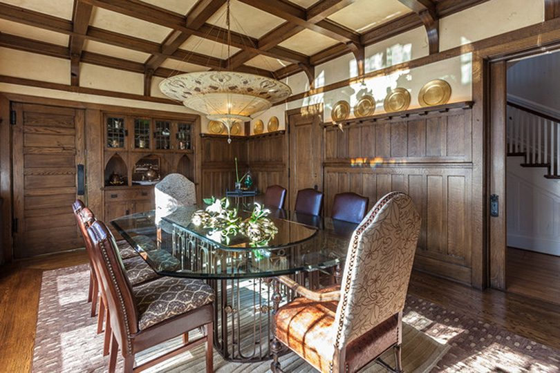 Wood Paneled Dining Room