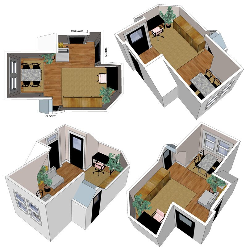 the playroom to home office layout - making it lovely