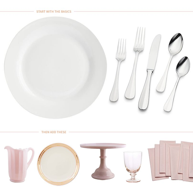 Start with the basics, then add pink