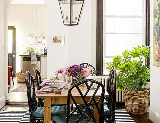 Traditional Dining Room with Black Chinese Chippendale Chairs in Better Homes & Gardens