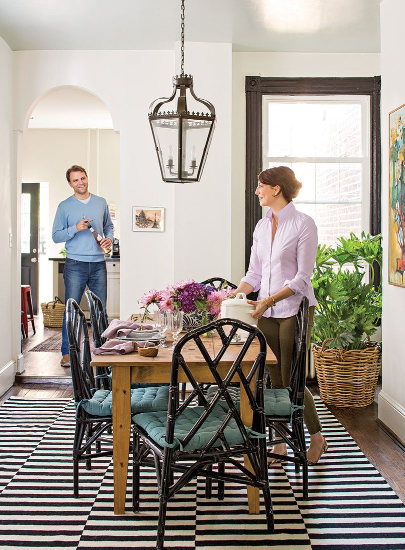 Kathryn Ivey's Traditional Dining Room with Black Chinese Chippendale Chairs in Better Homes & Gardens