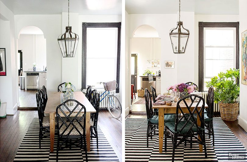 Kathryn Ivey's Dining Room Before and After Styling for Better Homes & Gardens