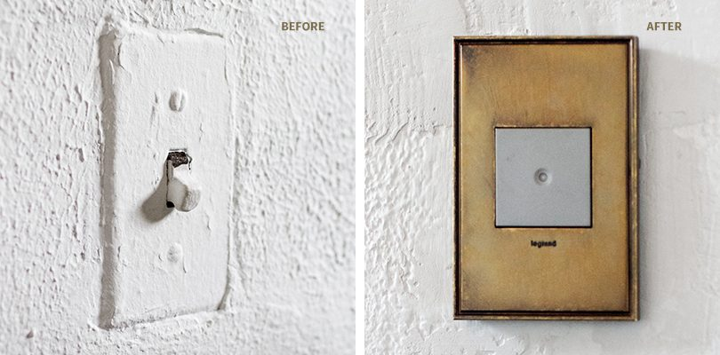 Legrand Adorne Light Switch, Before and After