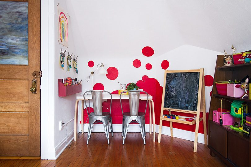 Playroom Accent Wall | Making it Lovely