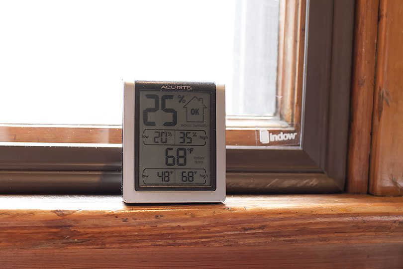 Measuring the Temperature Difference with Indow Window Inserts