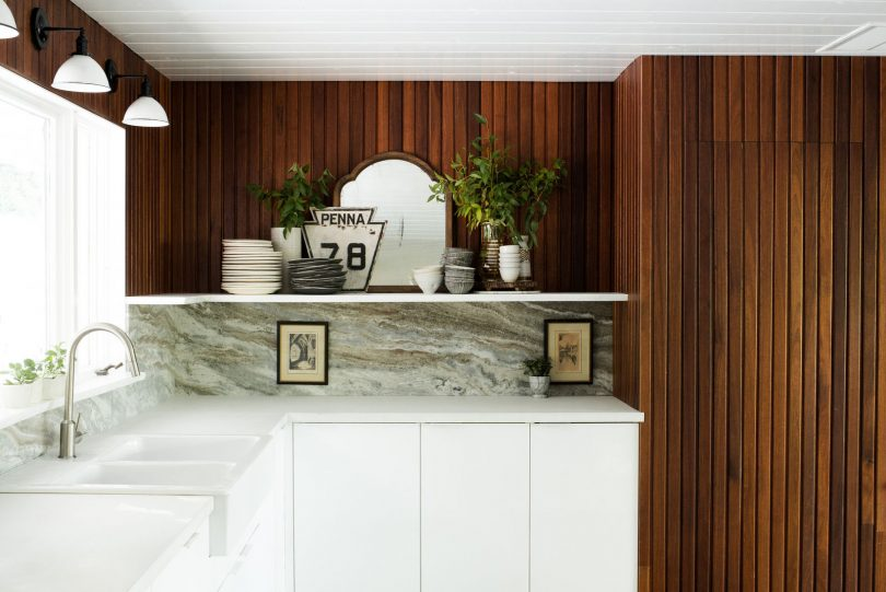 Leanne Ford's Modern Wood and White Kitchen