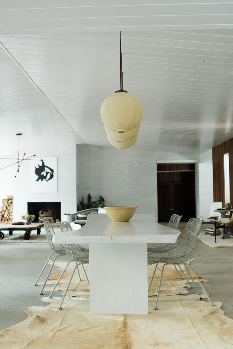 Leanne Ford's Modern Wood and White Dining Room and Home