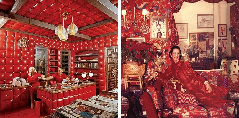 Jayne Mansfield and Diana Vreeland loved red.