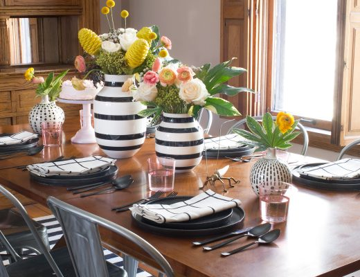 Dining Room with Unison Home Table Settings | Making it Lovely
