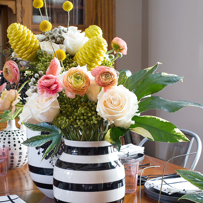 Black and White Omaggio Vases from Unison Home | Making it Lovely