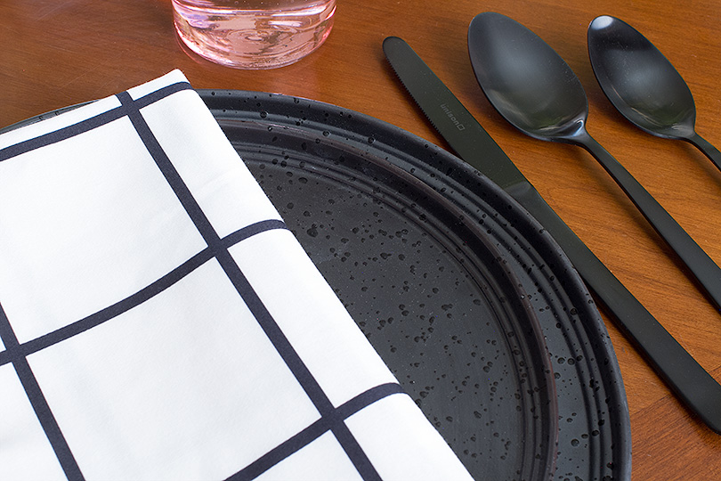 Black Dishes and Flatware from Unison Home | Making it Lovely