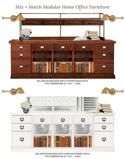 Modular Home Office Furniture: Mix And Match | Making It Lovely