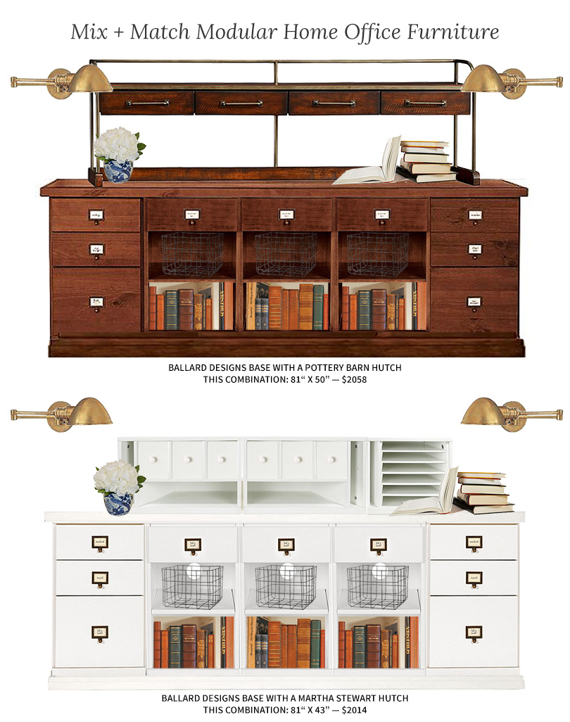 Modular Home Office Furniture: Mix and Match   Making it Lovely